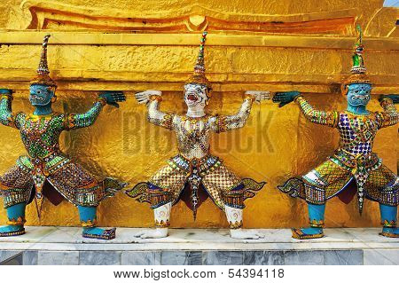 Three Guardians Of Grand Palace, Bangkok Thailand