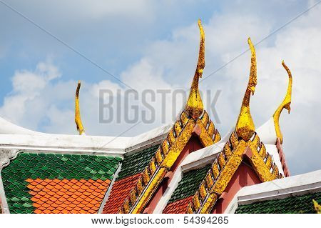 Roof Of Thailand Temple, Bangkok, Thailand