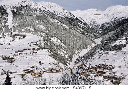 Winter Resort El Tarter and Pyrenees Mountains, Andorra