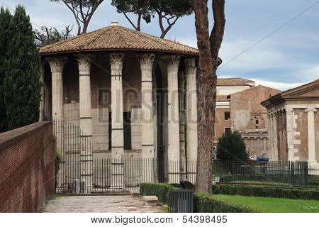 Temple Of Vesta In Rome