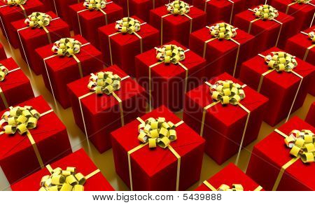 Presents Abstract Gift Box Background in 3d poster