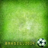 Grunge background - Brazil 2014. Space for text poster