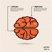 Creative left brain and right brain Idea concept background design for poster flyer cover brochure business dea abstract background.vector illustration poster