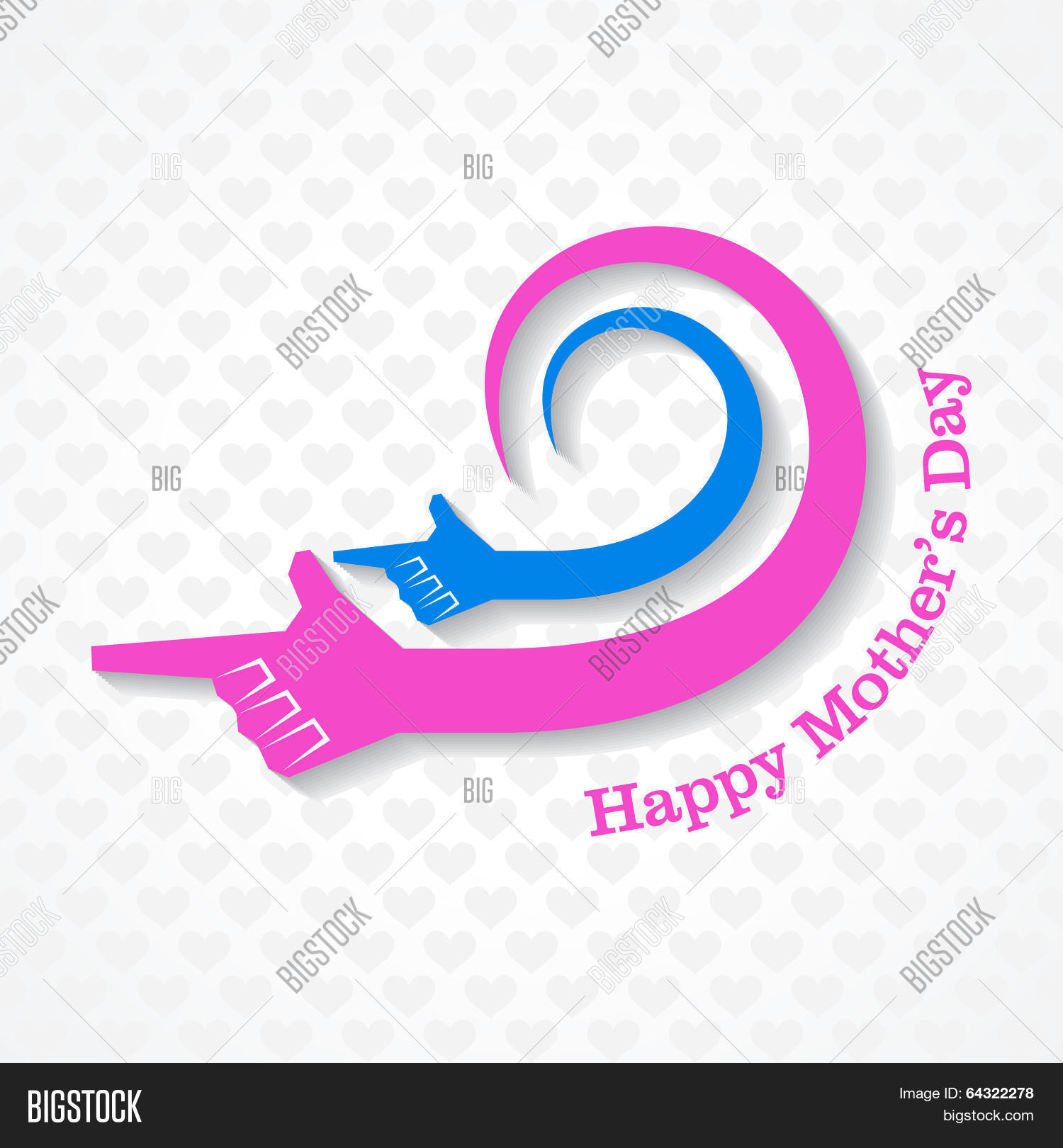 Mothers Day Greeting Vector Photo Free Trial Bigstock