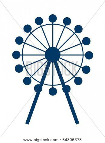 vector icon ferris wheel
