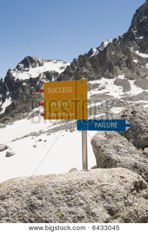 Sign with success & failure directions