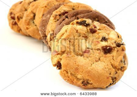 Stack Of Hazelnut And Chocolate Cookies