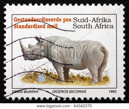 Postage Stamp South Africa 1993 Black Rhinoceros
