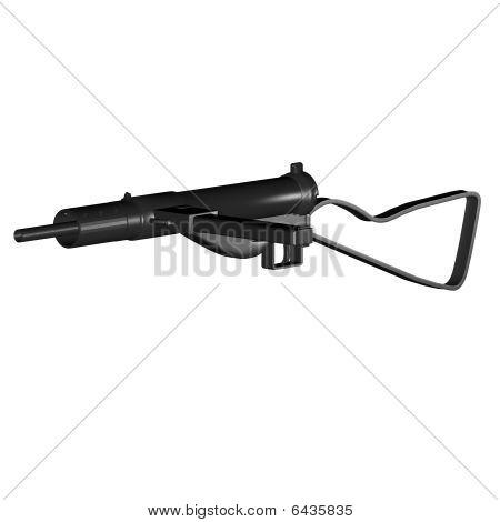 Sten Submachine Gun. WWII design of a home-made weapon. poster