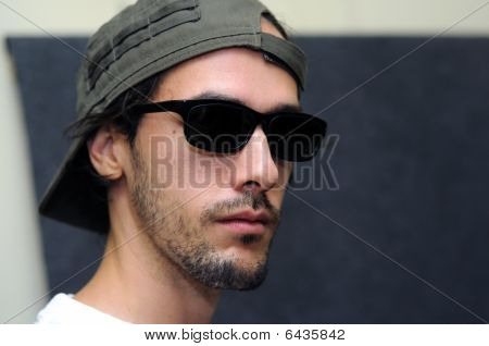 Cool Male Model With Dark Shades