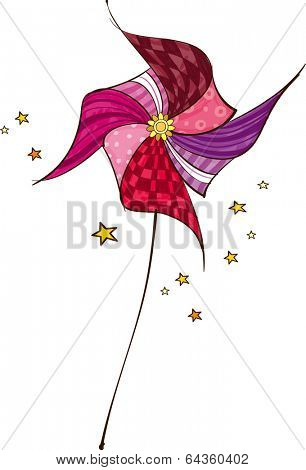 The view of pinwheel with star