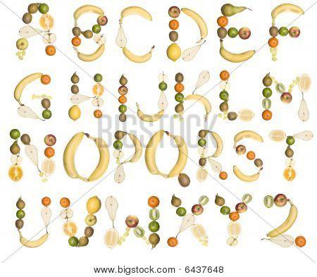 Das Alphabet von Früchte gebildet
