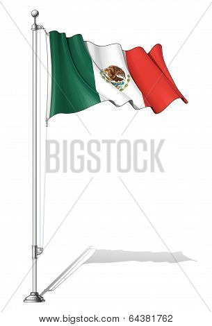 Flag Pole Mexico