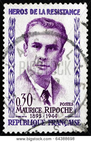 Postage Stamp France 1960 Maurice Ripoche, Hero