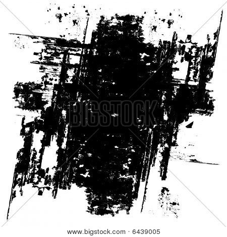 Grunge black background (vector)