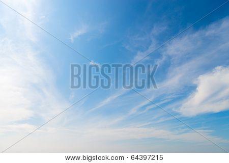 Stratus Clouds In Blue Sky
