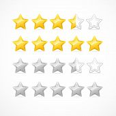 Vector Rating stars isolated on white background poster