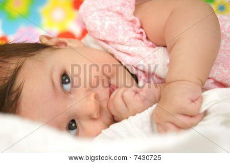 Little Baby Girl Smiling