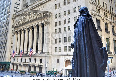 George Washington, Federal Hall, Wall St, Manhattan, Ny