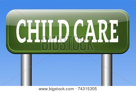 child care or protection in daycare or cr���¨che by nanny or au pair parenting or babysitting protection against child abuse