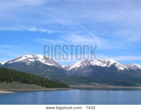 Lake Dillon With Snowy Peaks