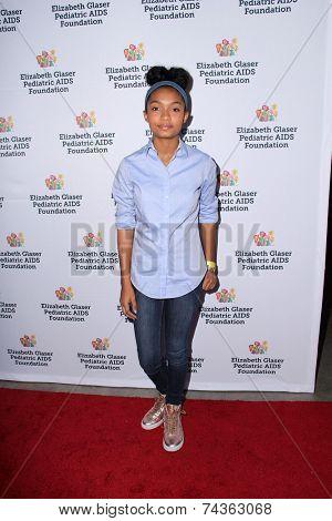 LOS ANGELES - OCT 19:  Yara Shahidi at the 25th Annual
