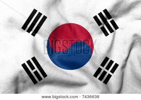 3D Flag Of South Korea