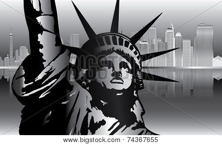 Silver City And Statue of Liberty