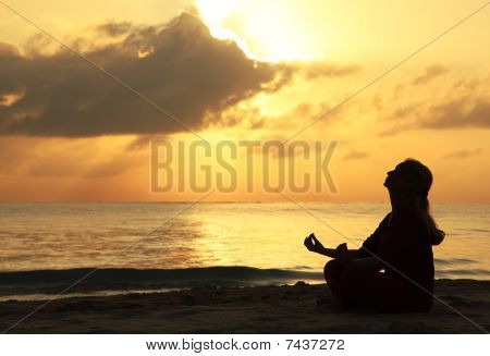 Beautiful Woman Meditating