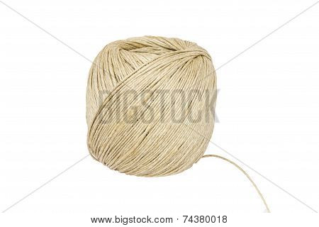 Ball Of String Isolated On White Background