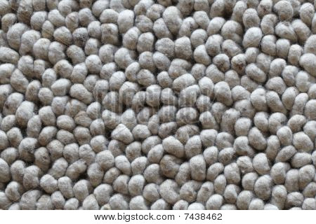Wool carpet looking like stones