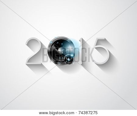 2015 Happy New Year Party background for Club Flyers! Ideal for music event, dance night posters and discoteque advertisement.
