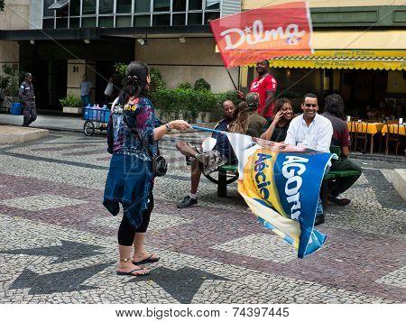 Dilma Rousseff vs Aecio Neves Campaign