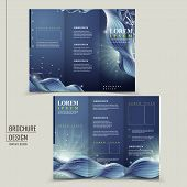 abstract technology background for tri-fold brochure template poster