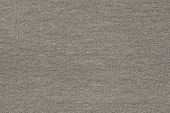 texture of the woven or knitted fabric in the form of scaly loops for abstract backgrounds of gray beige color poster
