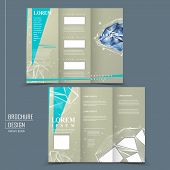 modern design for tri-fold brochure template with diamond element poster