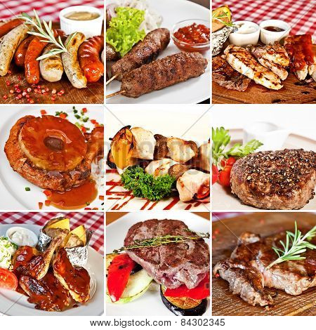 Grill Menu Collage