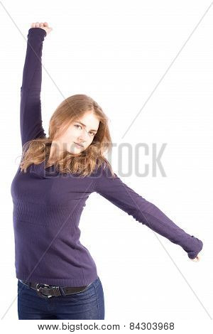 Woman Spread Her Arms