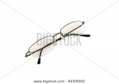 Light Tone Spectacles Isolated On White.