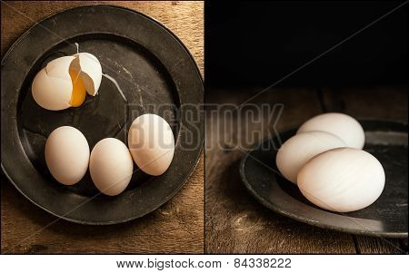 Compilation Of Vintage Style Moody Creative Lighting Setting Of Duck Eggs