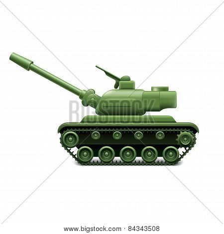 Military Tank Isolated On White Vector
