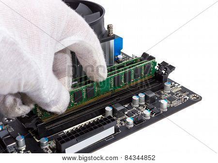 Installing Memory Module In Dimm Slot On Motherboard