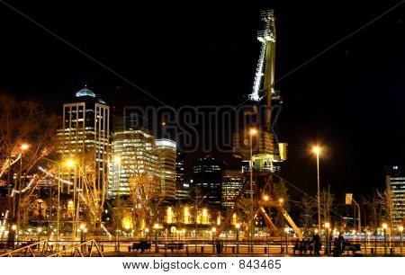 Downtown Buenos Aires by Night