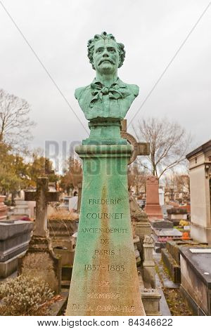 Tomb Of Frederic Cournet In Paris