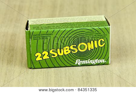 Box Of Remington 22 Shells