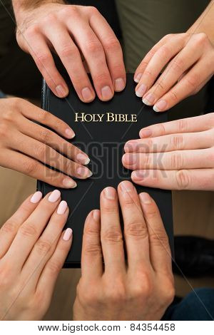 People Holding Holy Bible