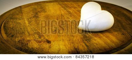 Little stone white heart. Color image