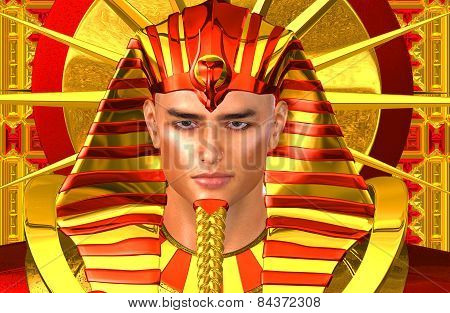 Egyptian Pharaoh Ramses. A modern digital art version.