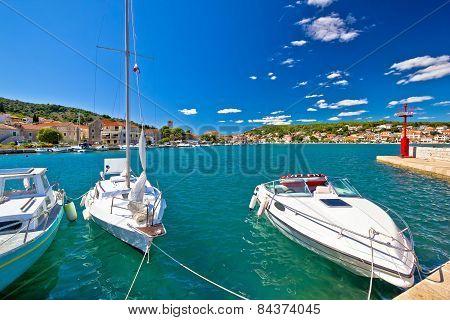 Adriatic Coas In Town Of Tisno