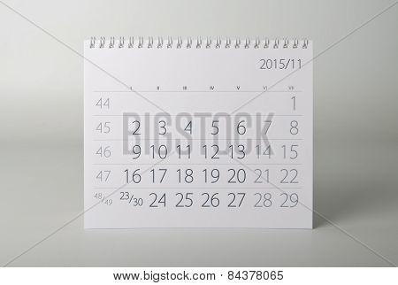2015 Year Calendar. November